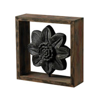 Sterling Industries Wood Frame with Cast Iron Look Centre Decor in Halesite with Blackened Iron 26-8661