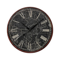 Sterling Signature Clock in Black and White With Antique 26-8664