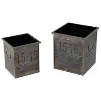 Sterling 26-8667/S2 Signature Oxidised Metal Planter
