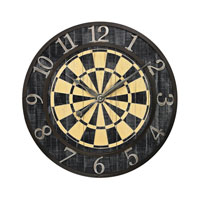 Sterling Signature Clock in Black and Yellow 26-8671