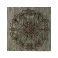 Sterling Meridian Wall Decor in Antique Green with Rust 26-8680