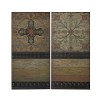 Sterling 26-8681/S2 Brichell Aged Red and Green and Brown Wall Décor