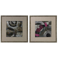 Sterling Mersey Wall Decor in Silver and Grey and Cerise and Green 26-8683/S2