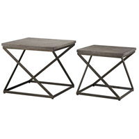 Sterling 3100-015/S2 Moya 24 X 24 inch Aged Iron & Polished Concrete Side Table