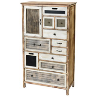 Sterling 3116-028 Topanga Wood Tone and Cream Cabinet, Tall