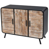 Sterling 3116-030 Sausalito Wood Tone and Black Cabinet