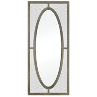 Renaissance Invention 72 X 32 inch Salvaged Grey Oak with Pewter Wall Mirror, Large
