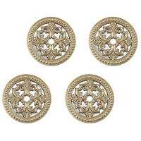 Triomphe Champagne Gold, White Antique Wall Decor, Set of 4