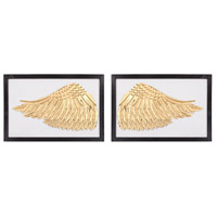 Ikaros Gold, White Wall Decor, Set of 2