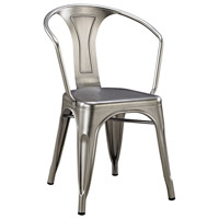 Acento Antique Silver Chair Home Decor