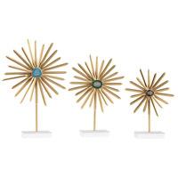 Sterling 3129-1137/S3 Cruzada Gold Decorative Stands Set of 3