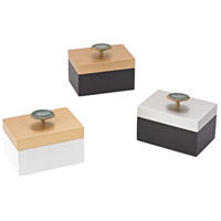 Sangreal Black, Gold Decorative Box, Set of 3