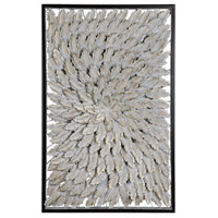 Goldplume Soft Gold and Chalk Wall Decor
