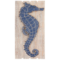 Jolly Harbour Washed Woodtone and Navy Blue Wall Decor