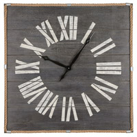Rum Cay Washed Grey Woodtone Wall Clock