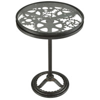 Tourbillon 21 inch Dark Grey Iron And Rust Side Table Home Decor