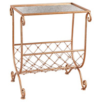 Sterling Heavy Metal Copper Side Table with Magazine Rack 3138-227