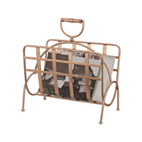 Sterling Signature Strapped Rose Gold Magazine Rack 3138-232