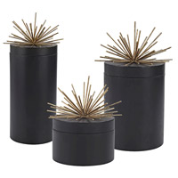 Quark Black, Aged Gold Jars, Set of 3