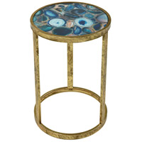 Krete 20 X 12 inch Blue Agate Side Table