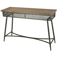 Perf 47 inch Dark Bronze And Medium Tone Washed Oak Console Home Decor