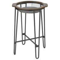 Superstition 27 X 18 inch Salvaged Grey Oak with Pewter Accent Table