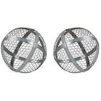 Sterling 3138-432/S2 Revolver Silver Decorative Spheres, Large