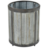 Kin Galvanized Steel with Black Garden Planter