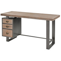Sterling 3138-445 Red Road 55 X 20 inch Natural Wood with Pewter Desk