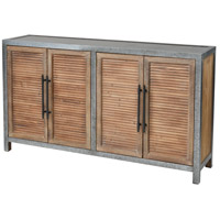 Sterling 3138-453 Badlands Drifted Oak and Aged Iron Cabinet, 2 Door