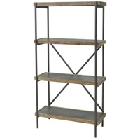 Sterling 3138-458 Honcho 59 X 32 X 13 inch Black/Wood Tone Shelf