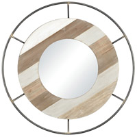 Sonora 35 X 35 inch Wood Tone and Bronze Wall Mirror