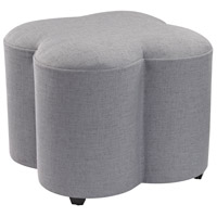 Sterling Signature Grey Linen Quatrefoil Stool 3169-016