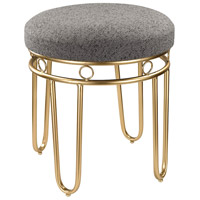 Sterling Signature Grey Linen Stool with Gold Legs 3169-017