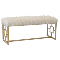 Sterling 3169-020 Signature White Faux Fur With Gold Bench