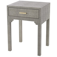 Sterling 3169-026S Sands Point 22 X 16 inch Grey Faux Shagreen Side Table, 1 Drawer