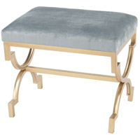 Comtesse Gold, Duck Egg Blue Bench Home Decor