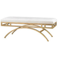 Sterling 3169-034 Miracle Mile Gold, Oyster Bench Home Decor