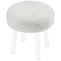 Sterling 3169-076 Angel Food 18 inch White and Clear Stool