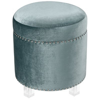 Sterling 3169-078 National Velvet 18 inch Duck Egg Blue and Clear Ottoman
