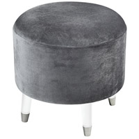 Sterling 3169-079 The Velvet Darkness 18 inch Grey and Clear Ottoman