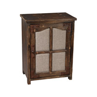 Sterling 3170-010 Restoration 25 X 19 inch Aged Walnut & Natural Linen Side Table