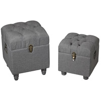 Sterling Restoration Grey Linen Storage Benches 3170-011/S2