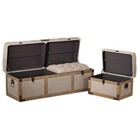 Sterling Restoration Belgian Linen Storage Trunks 3170-013/S3