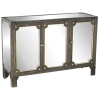 Sterling Jules Cabinet in Black Stain, Gold Accents, Clear Mirror 3183-008