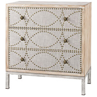 Sterling Albiera Cabinet in Natural Linen, Driftwood Grey 3183-014