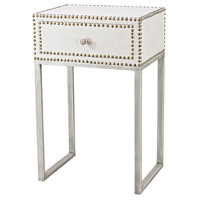 Albiera 20 X 15 inch Natural Linen, Driftwood Grey Accent Table Home Decor, 1 Drawer