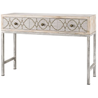 Sterling Albiera Desk in Natural Linen, Driftwood Grey 3183-016