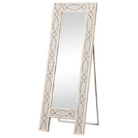 Sterling Albiera Dressing Mirror in Natural Linen, Driftwood Grey 3183-018
