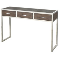 Sterling 3183-022 Beefcake 47 X 14 inch Walnut and Stainless Steel Console Table